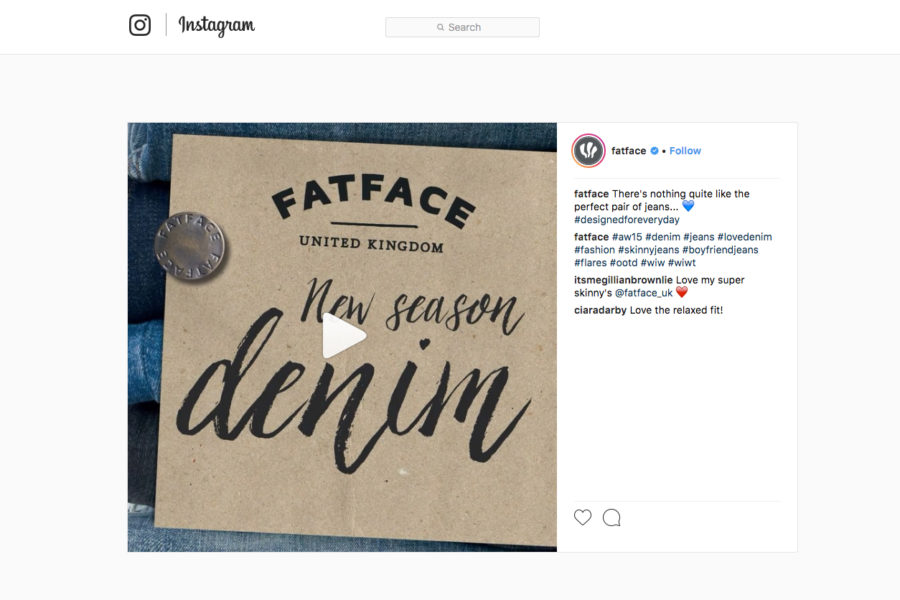 Images for the FatFace competition