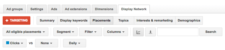 Check Google Display placements