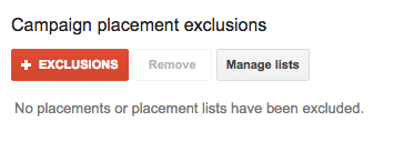 Google exclude irrelevant placements