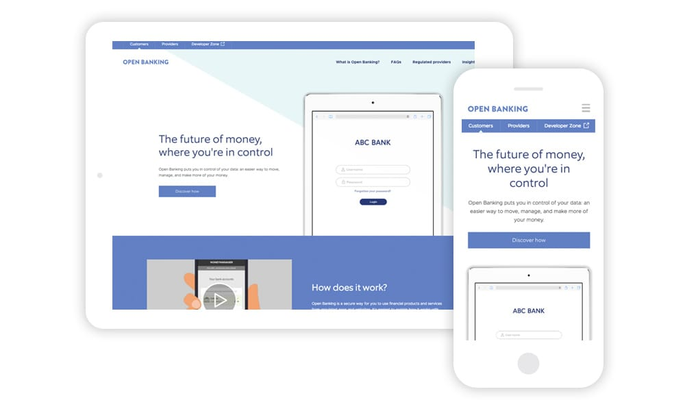 Web visuals for the Open Banking project