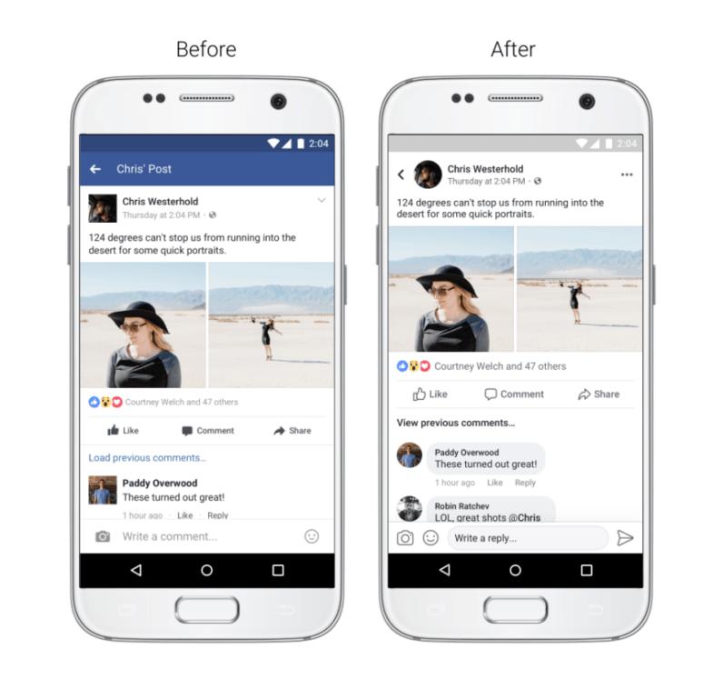 2017 Facebook design updates